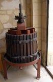 Prensa de vino vieja Fotografía de archivo