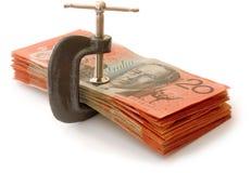 Prensa del dinero Fotografía de archivo libre de regalías