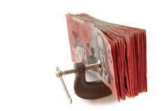 Prensa del dinero Fotos de archivo libres de regalías