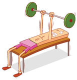 Prensa del pecho de la pesa de gimnasia Foto de archivo