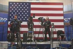 Prensa nacional y cameramanes de la TV Foto de archivo libre de regalías