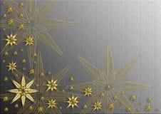 Prentbriefkaar 1 van Kerstmis Stock Foto