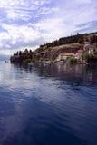 Prentbriefkaar 2 van Ohrid stock afbeeldingen