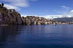 Prentbriefkaar 3 van Ohrid royalty-vrije stock afbeeldingen