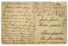 Prentbriefkaar Royalty-vrije Stock Foto's