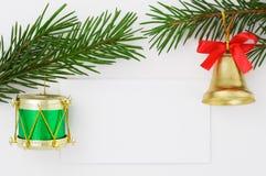 Prentbriefkaar 6 van Kerstmis stock fotografie
