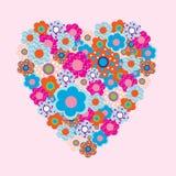 Prentbriefkaar aan de Valentijnskaartendag Stock Foto's