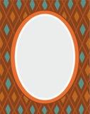 Prentbriefkaar, bruin kader, ruiten, meetkunde, vlakke kleur, Royalty-vrije Stock Afbeeldingen