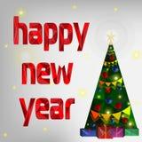 prentbriefkaar De achtergrond 2016 Nieuwjaar Stock Afbeelding