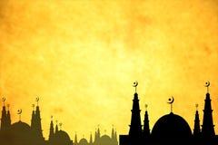 Prentbriefkaar Eid Mubarak voor viering van Moslim Royalty-vrije Stock Afbeelding