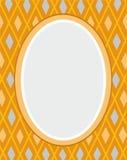 Prentbriefkaar, geel kader, diamanten, meetkunde, vlakke kleur, Royalty-vrije Stock Afbeeldingen