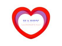 Prentbriefkaar Gelukkig Valentine Stock Afbeelding