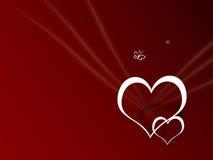 Prentbriefkaar I houdt van u, de Dag van de Valentijnskaart Stock Foto