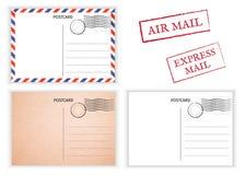 prentbriefkaar Luchtpost Briefkaartillustratie voor ontwerp Postcar stock illustratie