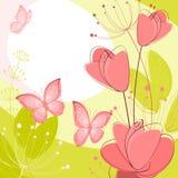 Prentbriefkaar met bloemen Royalty-vrije Stock Fotografie