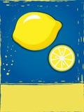 Prentbriefkaar met citroen Royalty-vrije Stock Foto's