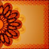 Prentbriefkaar met de zomerbloem blowball Stock Afbeeldingen
