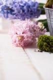 Prentbriefkaar met elegante bloemen Stock Foto's