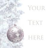 Prentbriefkaar met Kerstmissnuisterij Stock Foto's