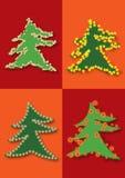 Prentbriefkaar met Kerstmisthema vector illustratie