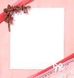 Prentbriefkaar met leeg blad van document stock foto