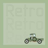 Prentbriefkaar met retro auto Royalty-vrije Stock Afbeelding