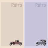 Prentbriefkaar met retro auto Royalty-vrije Stock Afbeeldingen