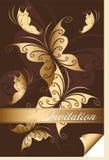 Prentbriefkaar met vlinders Royalty-vrije Stock Foto's