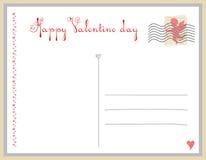 prentbriefkaar op de Dag van de Valentijnskaart Stock Afbeeldingen