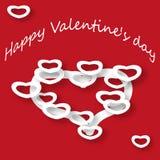 Prentbriefkaar St Valentine Day Stock Fotografie