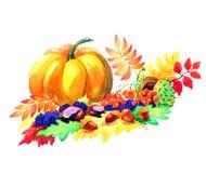 Prentbriefkaar van de herfstseizoen van tuinen Royalty-vrije Stock Fotografie