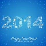 2014 prentbriefkaar van de nieuwjaar de glanzende uitnodiging Royalty-vrije Stock Afbeelding