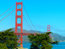 Prentbriefkaar van Golden gate bridge San Francisco Stock Afbeelding