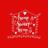 Prentbriefkaar van het huis de zoete huis Stock Illustratie