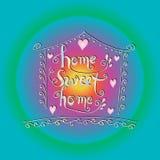 Prentbriefkaar van het huis de zoete huis Royalty-vrije Illustratie