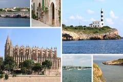 Prentbriefkaar van Mallorca Royalty-vrije Stock Afbeeldingen