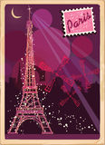 Prentbriefkaar van Parijs Royalty-vrije Stock Foto's
