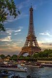 Prentbriefkaar van Parijs Stock Foto