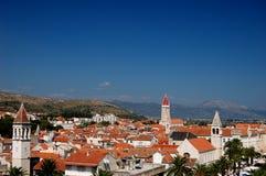 Prentbriefkaar van Trogir, Kroatië Stock Afbeelding