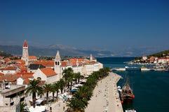 Prentbriefkaar van Trogir, Kroatië Royalty-vrije Stock Fotografie
