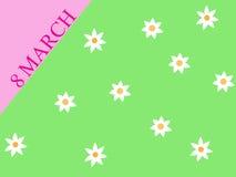 Prentbriefkaar vanaf 8 Maart Royalty-vrije Stock Foto's