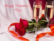 Prentbriefkaar voor de Dag van de Valentijnskaart `s Royalty-vrije Stock Afbeelding