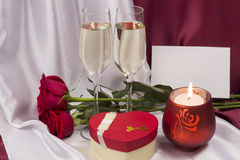 Prentbriefkaar voor de Dag van de Valentijnskaart `s Stock Afbeeldingen
