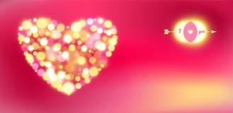 Prentbriefkaar voor de dag van Gelukkig Valentine. vector illustratie