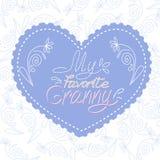 Prentbriefkaar voor grootmoeder royalty-vrije illustratie