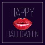Prentbriefkaar voor Halloween Stock Foto's
