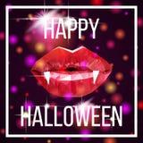 Prentbriefkaar voor Halloween Stock Afbeelding