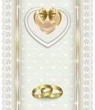 Prentbriefkaar voor huwelijksdag stock illustratie