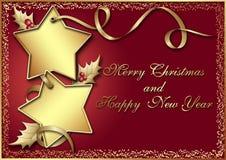 Prentbriefkaar voor Kerstmis Stock Foto's