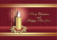 Prentbriefkaar voor Kerstmis Stock Afbeeldingen